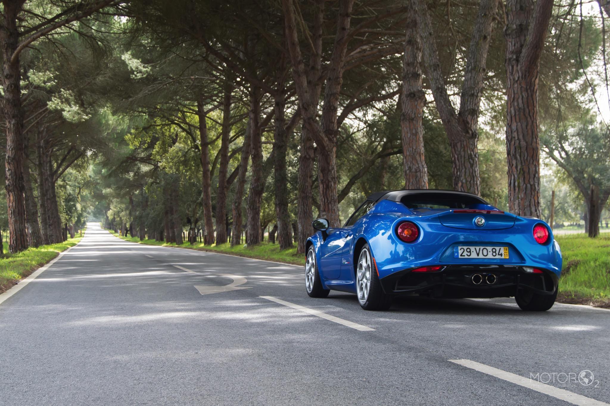 Pela N2 no Alfa Romeo 4C Spider Italia